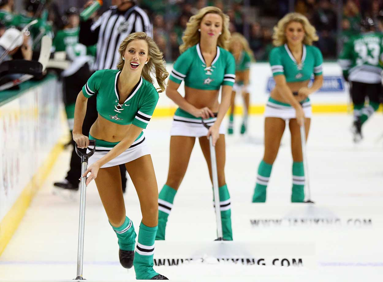 The Dallas Stars ice girls at American Airlines Center.
