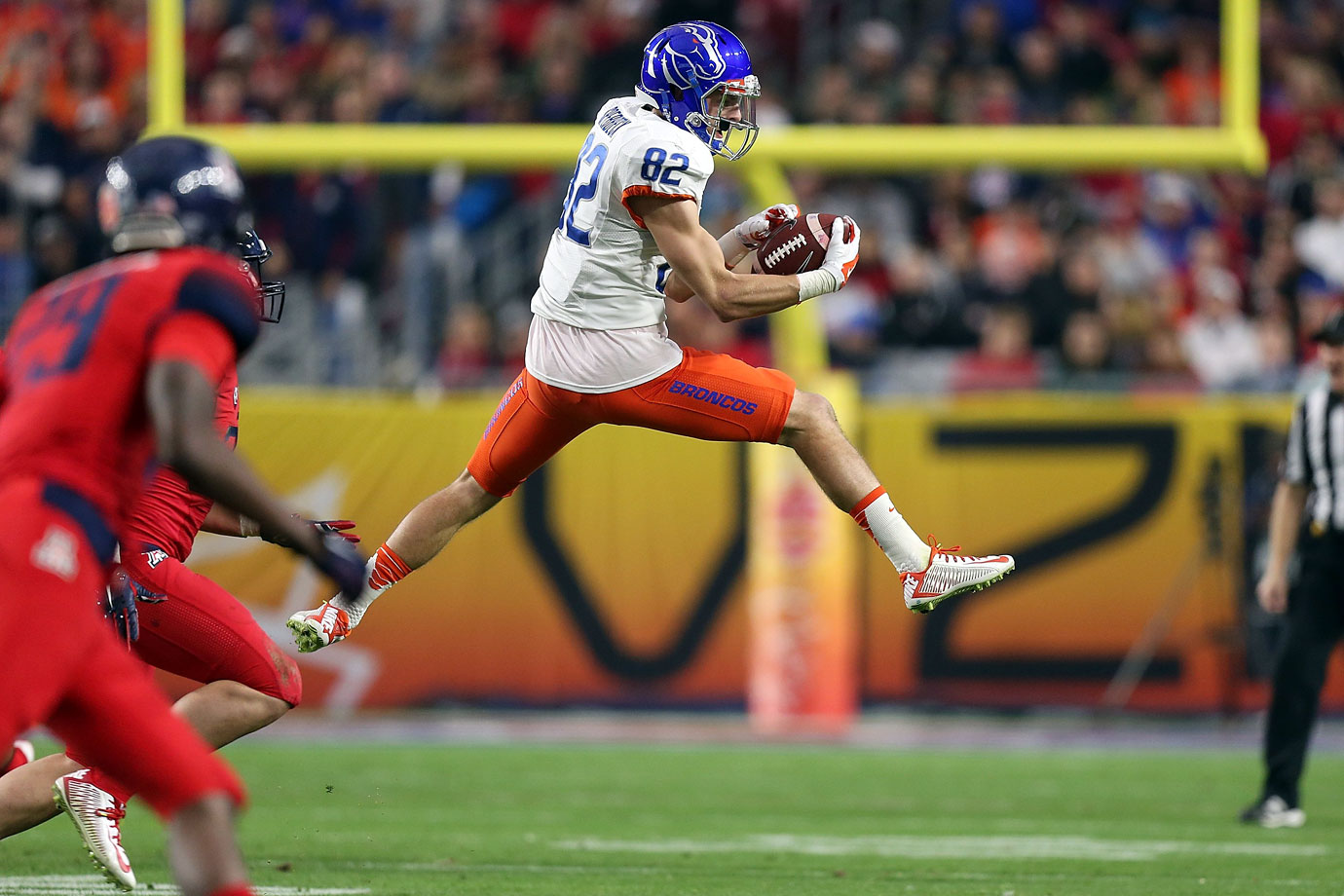 The receiver helped the Broncos upset Arizona in the Fiesta Bowl with 12 catches for 199 yards.