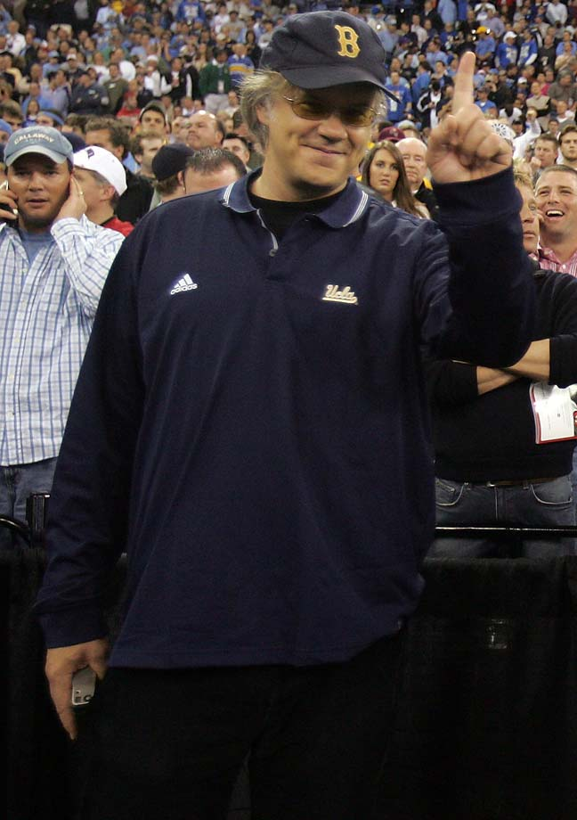 Tim Robbins at the UCLA-Florida national championship game in 2006 at the RCA Dome in Indianapolis.
