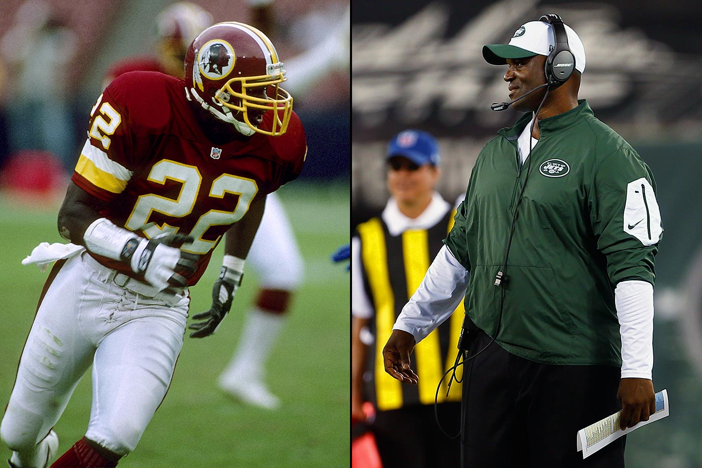 Todd Bowles played safety for eight NFL seasons, seven with the Redskins, and started in Super Bowl XXII. Bowles had 15 career interceptions, seven fumble recoveries and two sacks. After two seasons as Arizona's defensive coordinator (2013-14), Bowles signed a four-year deal to become the head coach of the New York Jets in 2015.