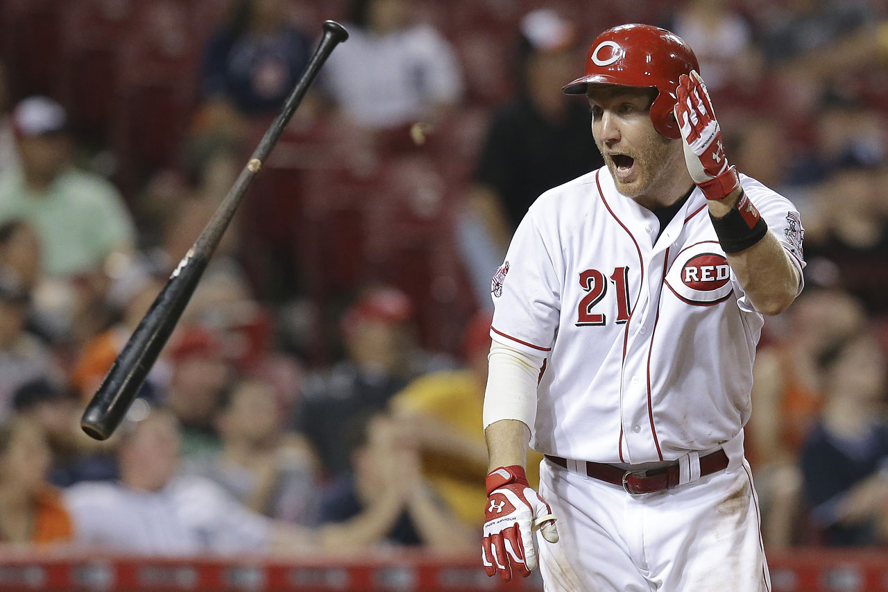 Todd Frazier hit a game-winning grand slam in the 13th inning against the Detroit Tigers to give the Cincinnati Reds an 8-4 victory in the wee hours of June 18.