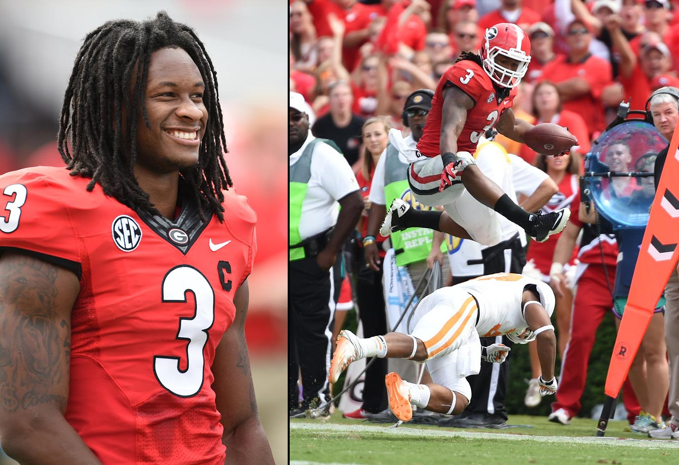 Georgia running back Todd Gurley signed with Jay Z's Roc Nation Sports in Jan. 2015. Gurley, 20, tore the ACL in his left knee in November against Auburn and missed the rest of the season. It was his first game back since serving a four-game suspension for accepting money for autographs. Gurley, who will enter the 2015 NFL draft, rushed for 911 yards and nine touchdowns while also catching 16 passes for 117 yards in six games in 2014.