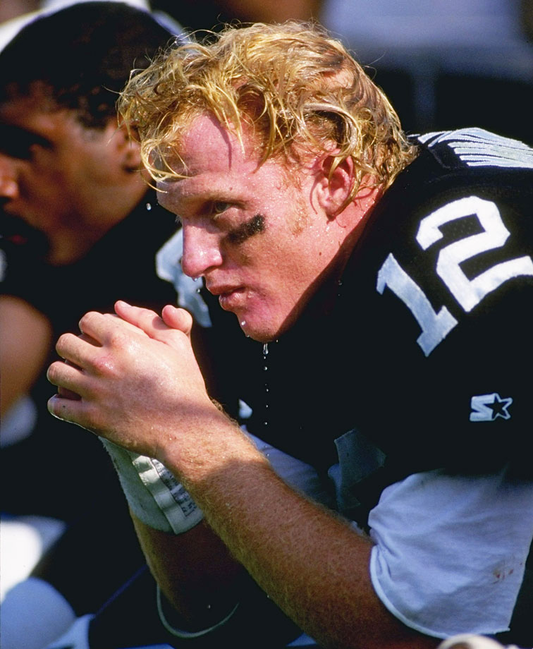 Drafted lower than most of the players in this gallery, Marinovich's status as a draft bust comes in part because of the expectations created by his bizarre background. Encouraged early on by his father, Marv, a former Raiders offensive lineman, to be a quarterback, Marinovich melted under the pressure. He ran into trouble with drugs while starring at USC, and his problems continued after joining the Raiders, where he lasted just two seasons.