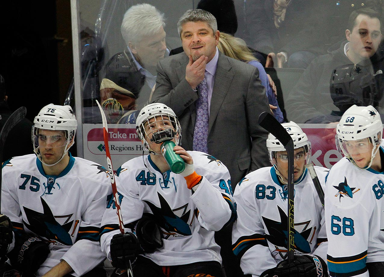 The longtime coach of the San Jose Sharks finally moved on after a disappointing 2015 season and so many disappointing playoff runs.