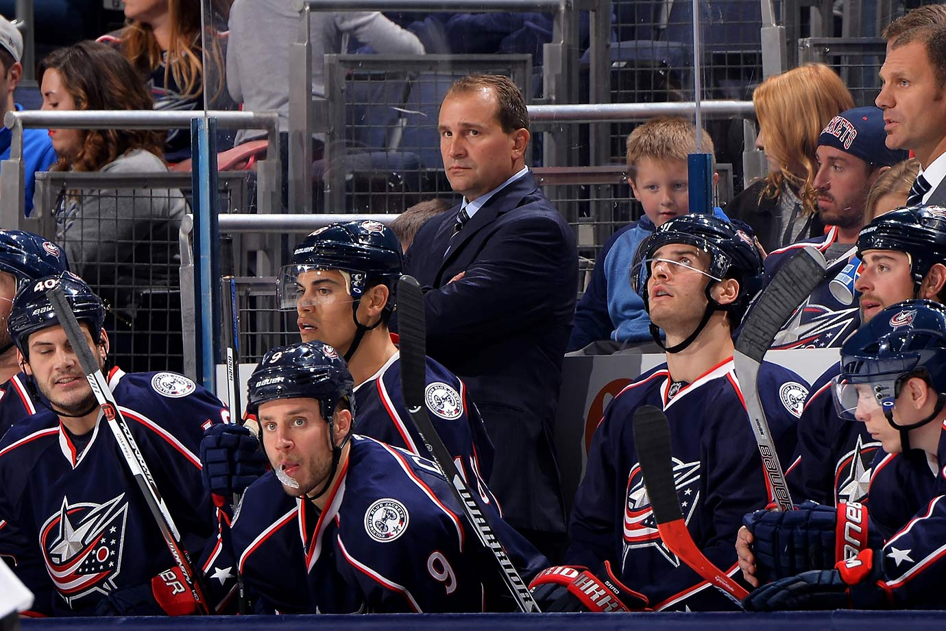 """After guiding the Jackets to only the second playoff berth in their 13-year history, Richards presided over an injury-riddled 2014-15 that saw Columbus fall short but end the season on a torrid 15-1-1 run that raised expectations. The wheels came off again during a disastrous 0-7-0 start marked by clown car defense and the meltdown of goalie Sergei Bobrovsky. """"We're not responding the right way,"""" GM Jarmo Kekalainen lamented while introducing Richards' replacement: the notorious whipcracker John Tortorella."""