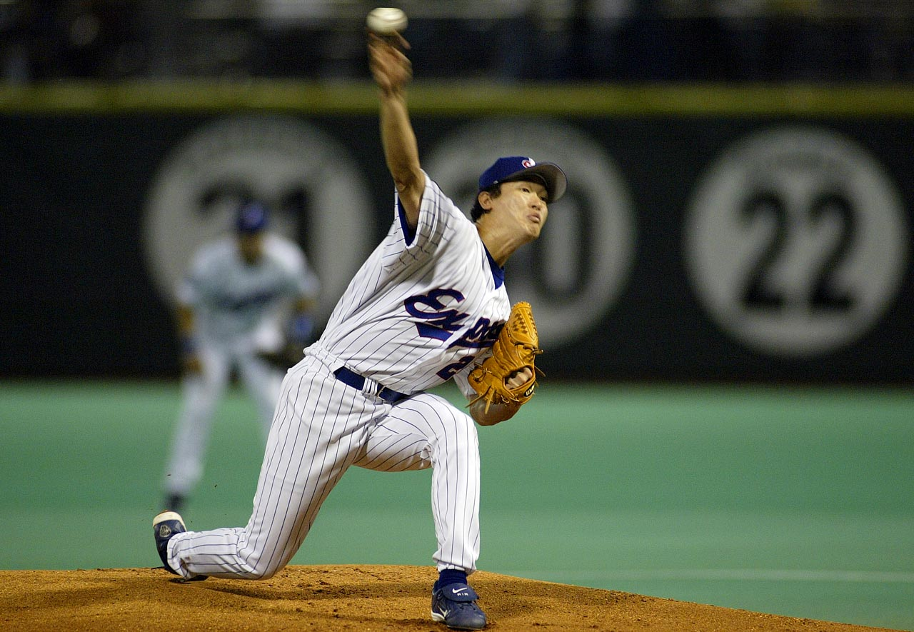 The Red Sox purchased the 22-year old Ohka from the Yokohama BayStars in Nov. 1998. He pitched for five teams in his 10 major league seasons, throwing 1,070 total innings and going 51-68.