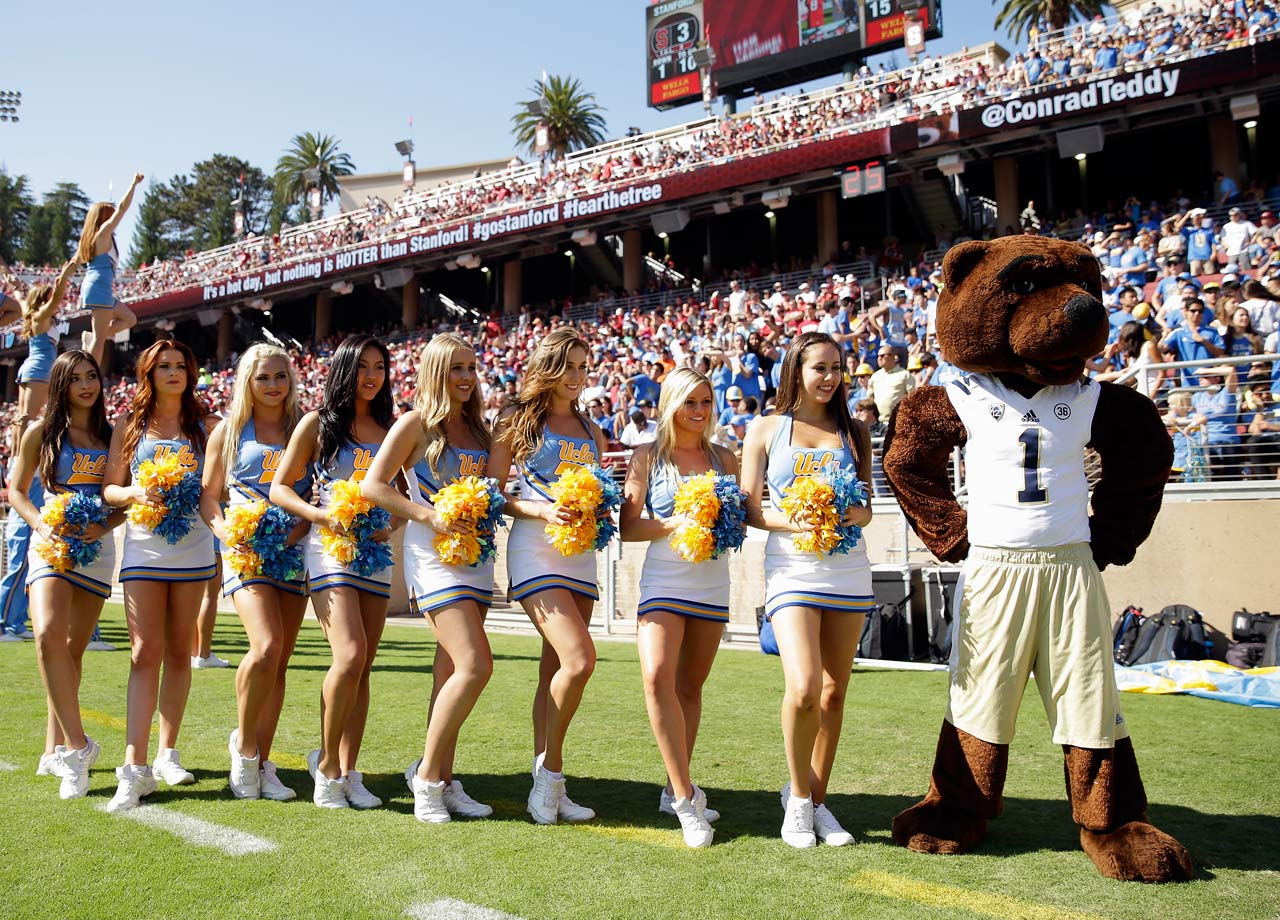 "Initially, UCLA teams were known as the ""Cubs,"" while the University of California at Berkley went by the ""Bears,"" and later the ""Golden Bears."" But students at UCLA resented the little brother status and rejected the Cubs nickname in favor of the fiercer ""Grizzlies"" nickname.  The Grizzlies moniker lasted just two years. In 1926, UCLA joined the old Pacific Coast Conference, which already had some Grizzlies in the mix -- namely, the University of Montana. UCLA agreed to give up the Grizzlies nickname, and Cal bequeathed UCLA one of the variations on their Bear nickname: ""Bruins."""