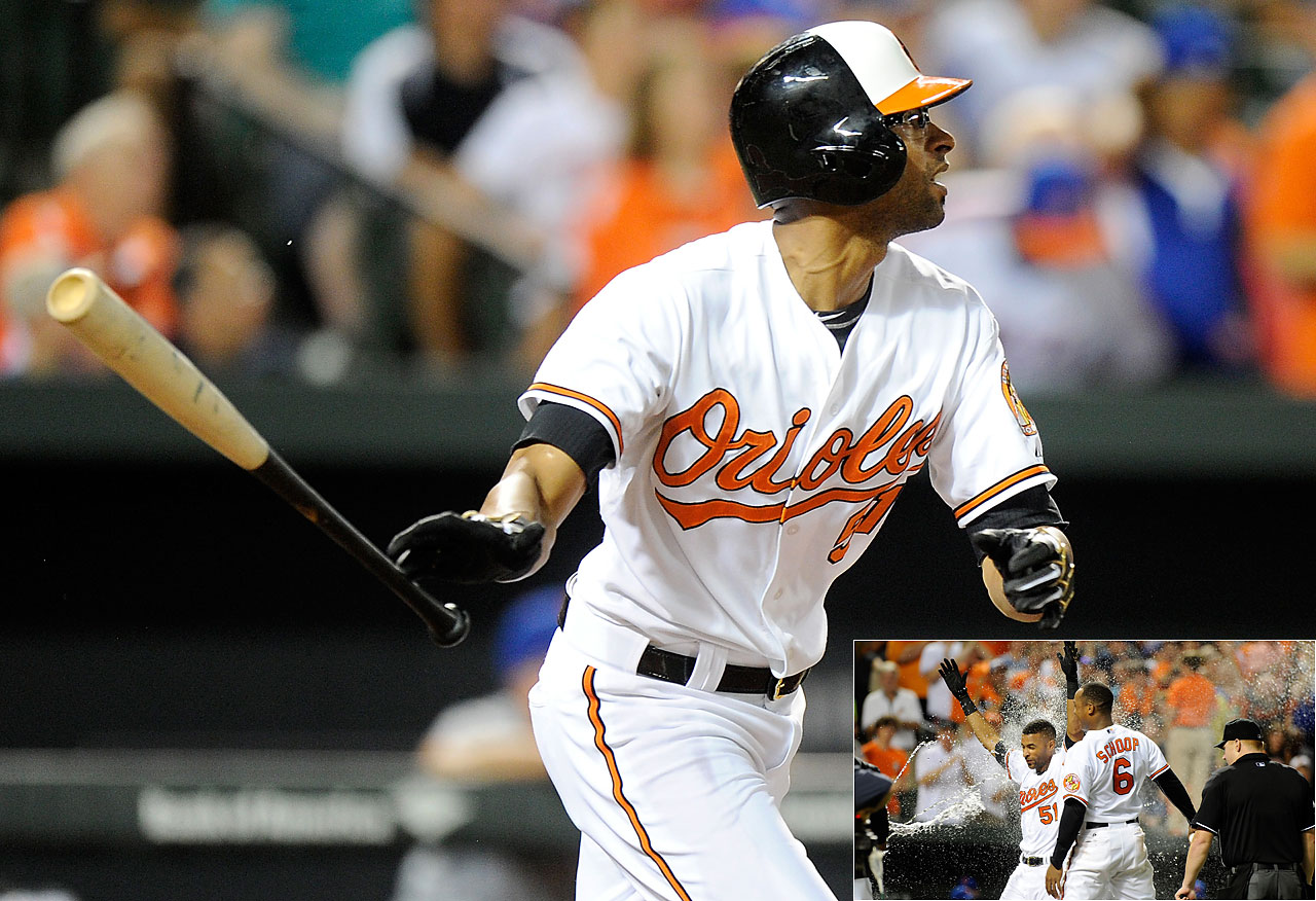Herny Urrutia gave the Baltimore Orioles their third walk-off home run in six days with a solo shot off the New York Mets in the ninth inning on Aug. 19.