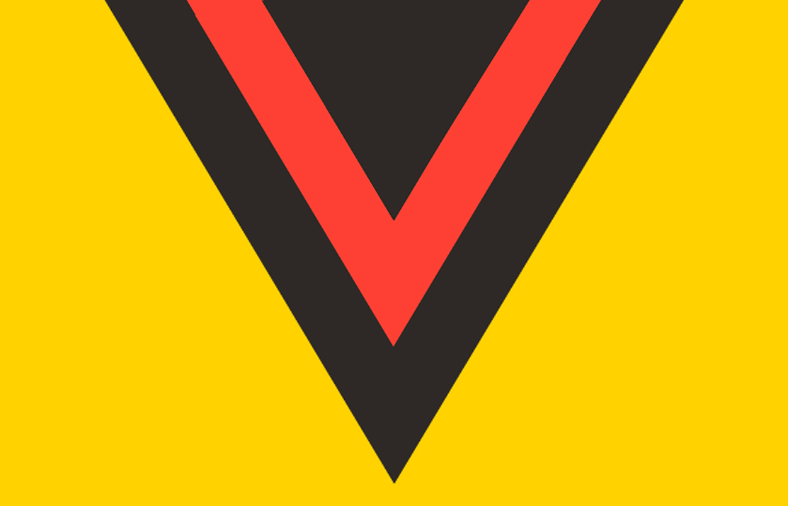 It's not a logo so much as it is...a design element, maybe? A pair of chevrons formed a black-and-red or red-and-yellow V neck. Hard to believe it lasted almost a decade before someone was able to pull the plug.