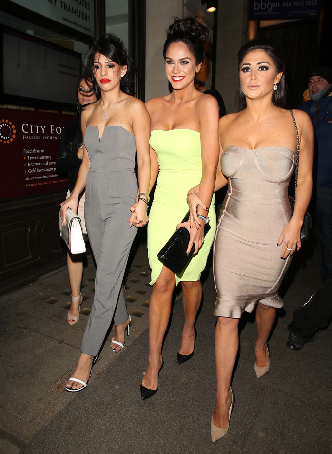 Jasmin Walia, Vicky Pattison and Casey Batchelor :: Getty Images