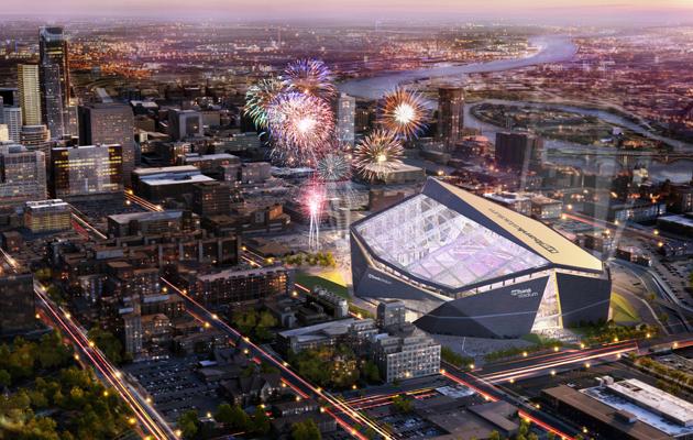 U S Bank Stadium Vikings New Stadium Boasts New
