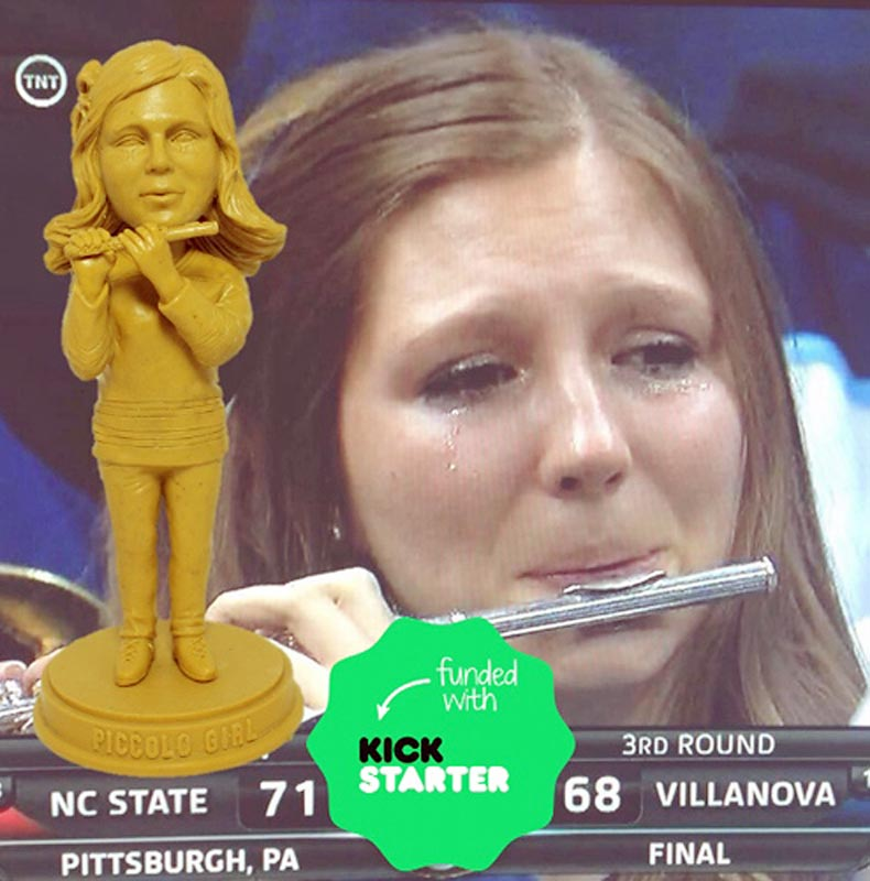 In the months since famously crying on national television, the Villanova piccolo girl now has her own bobblehead.