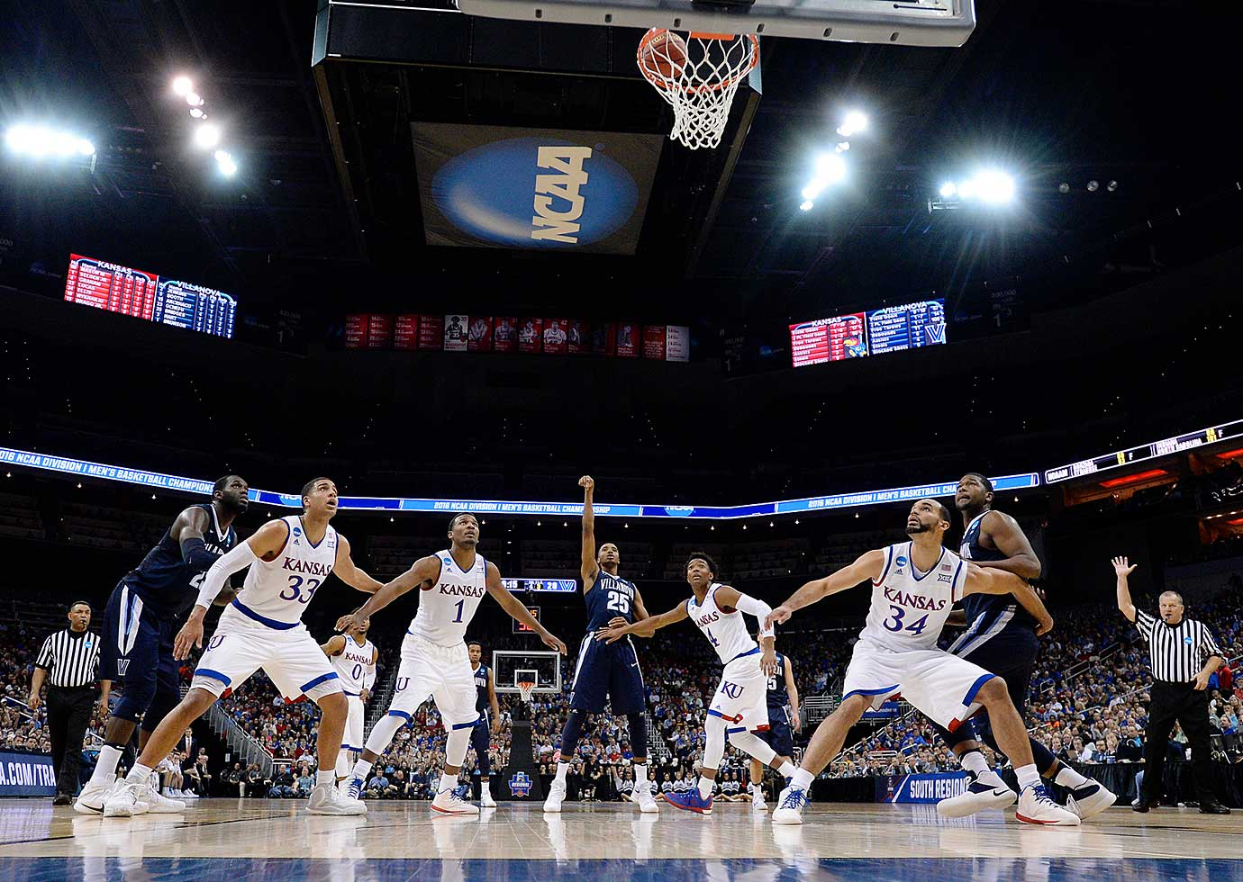 Villanova used a 10-0 run to move ahead 50-45 and hit key throws and played ferocious defense down the stretch.