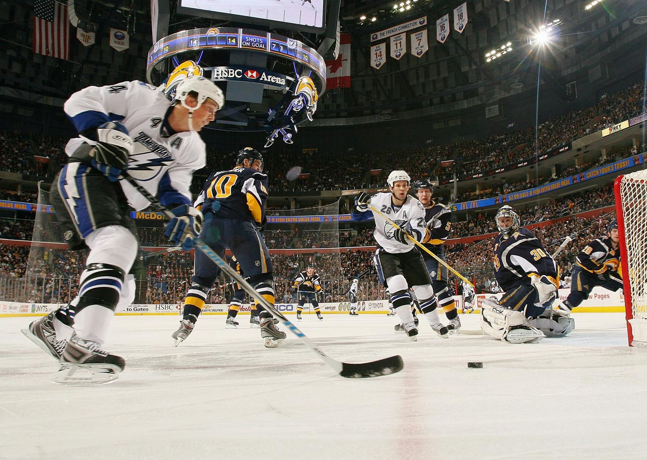 Linemates and the Tampa Bay's biggest stars for 13 seasons, they led Tampa Bay to its first and only Stanley Cup in 2004, with the diminutive (5-8, 180) winger St. Louis winning the Ross and Hart Trophies. Lecavalier, a sizeable (6-4, 208) scoring center, as the No. 1 draft pick in 1998 and later led the league in goals during the 2006-07 season with his pal setting him up.