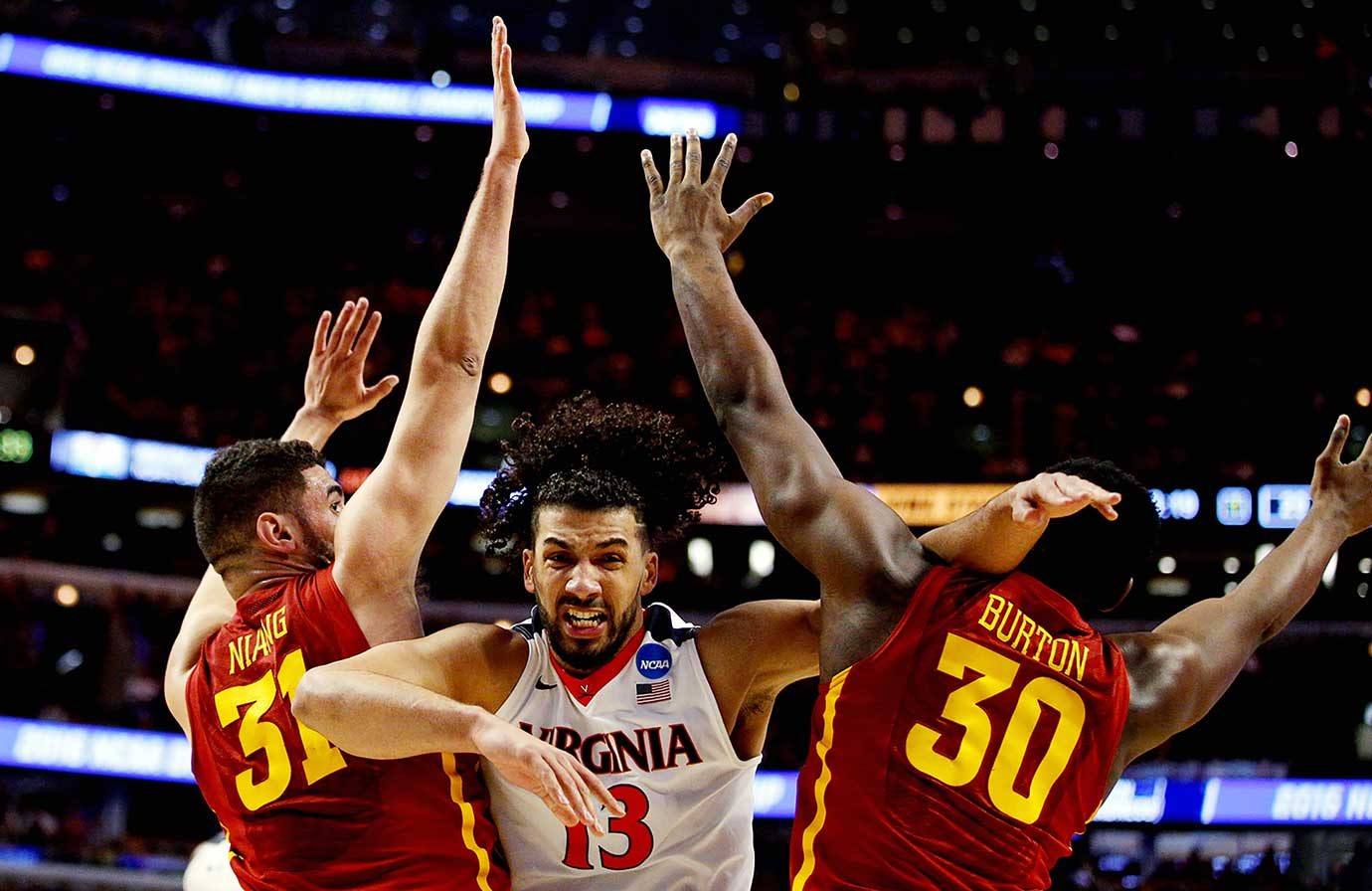 Anthony Gill and the Virginia Cavaliers bulldozed their way past Georges Niang, Deonte Burton and Iowa State, 84-71.