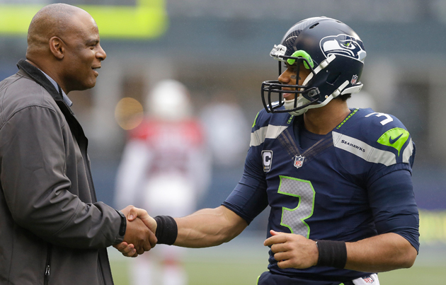 Warren Moon (l.) has been an advisor to Russell Wilson since Wilson came into the NFL.