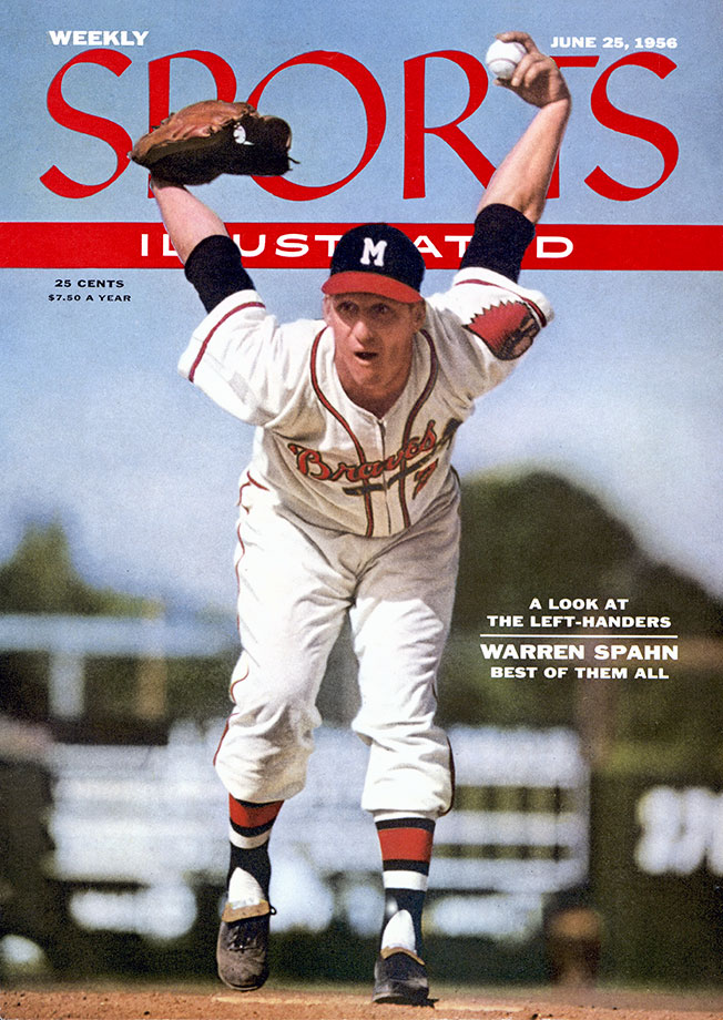 Spahn's 23-year Hall of Fame career included stops with the Braves, Mets and Giants. Along the way, he won 363 total games and a Cy Young award in 1957.