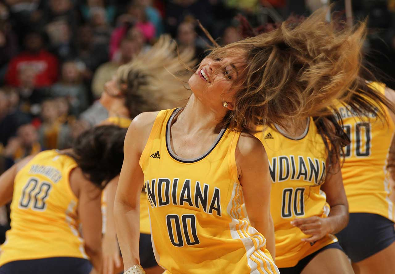 The Indiana Pacers dance team during the game against the Washington Wizards.