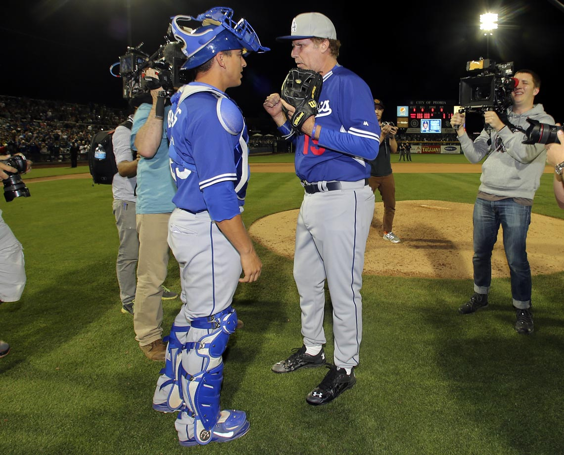 with catcher A.J. Ellis