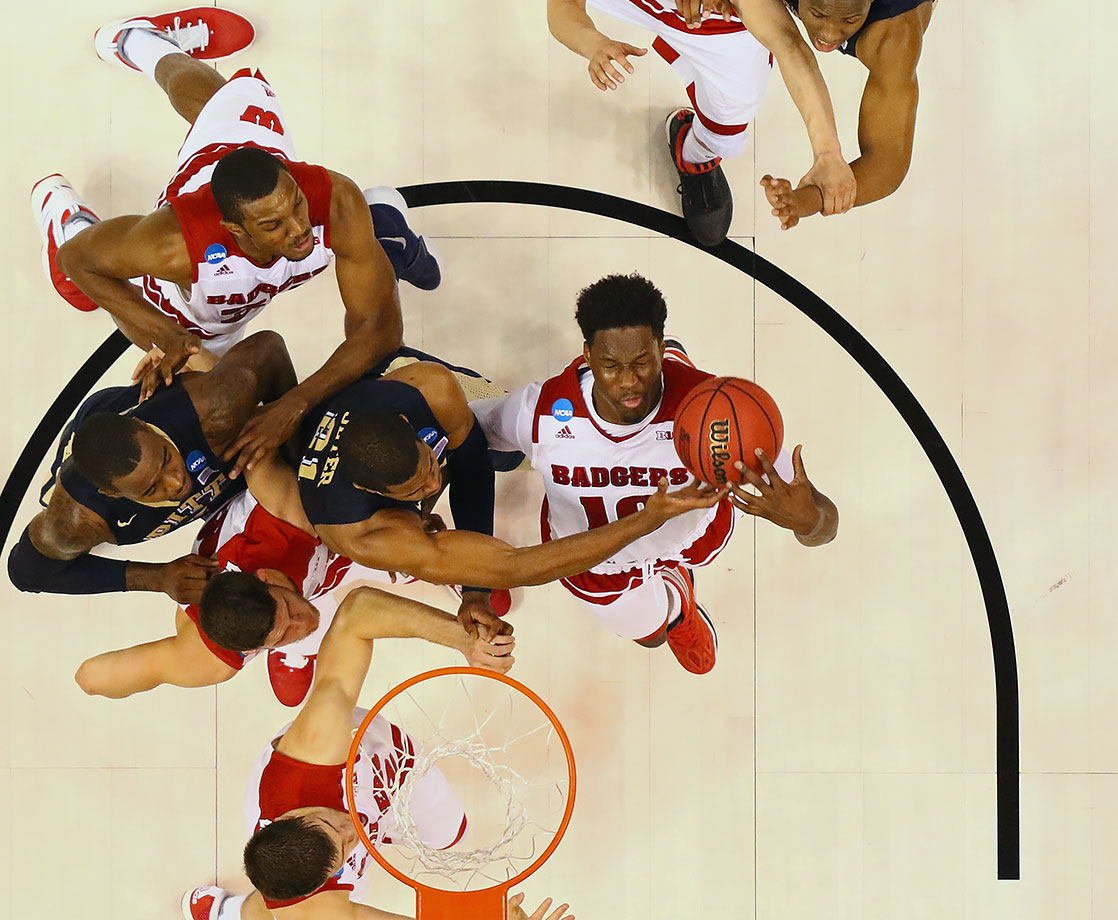 No one would have dreamed Wisconsin would be here when they were 9-9, including 1-4 in the Big Ten, in the middle of January. They do have the experience as they only team to make the Sweet 16 each of the last three seasons, but they're also one of the least talented teams remaining in the field.
