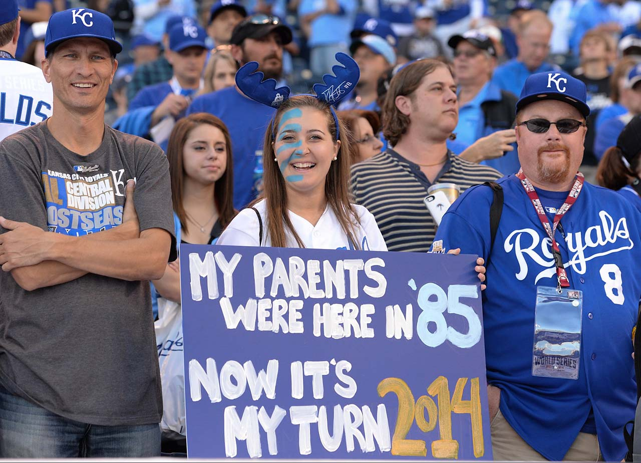 The Royals won the World Series in 1985 and hadn't returned to the Fall Classic until this year.