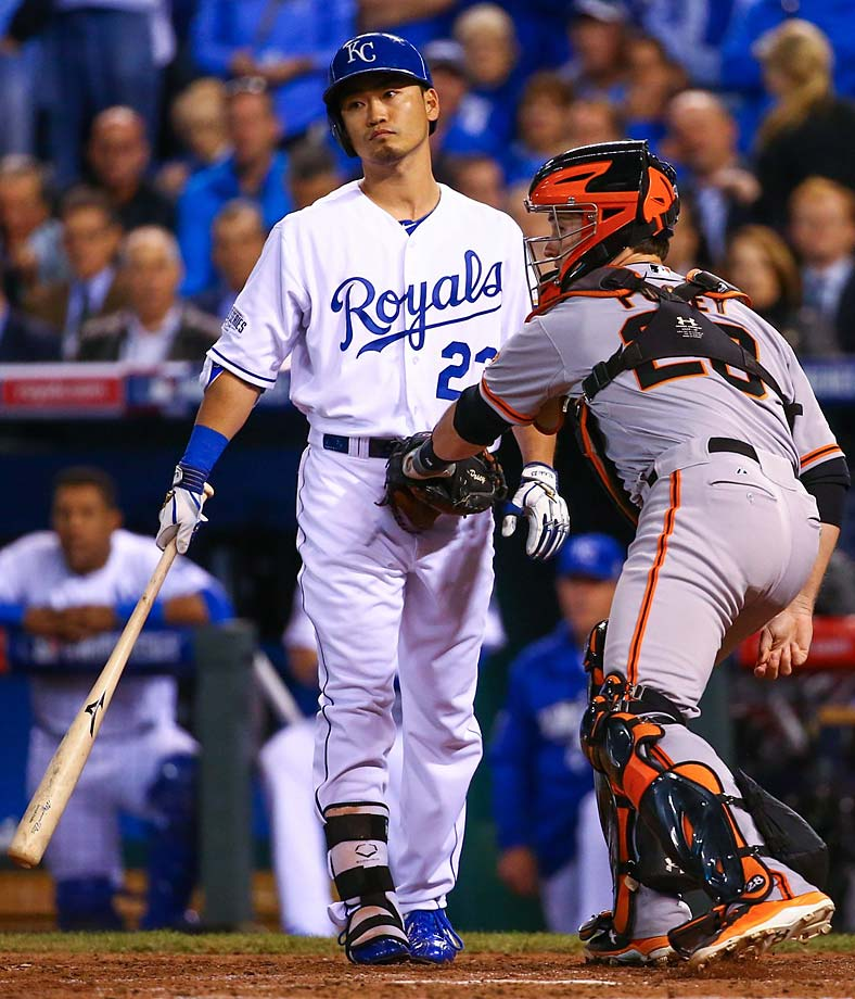 It was that kind of night for Norichika Aoki and the Royals, who lost their first game in nine outings in the 2014 postseason.