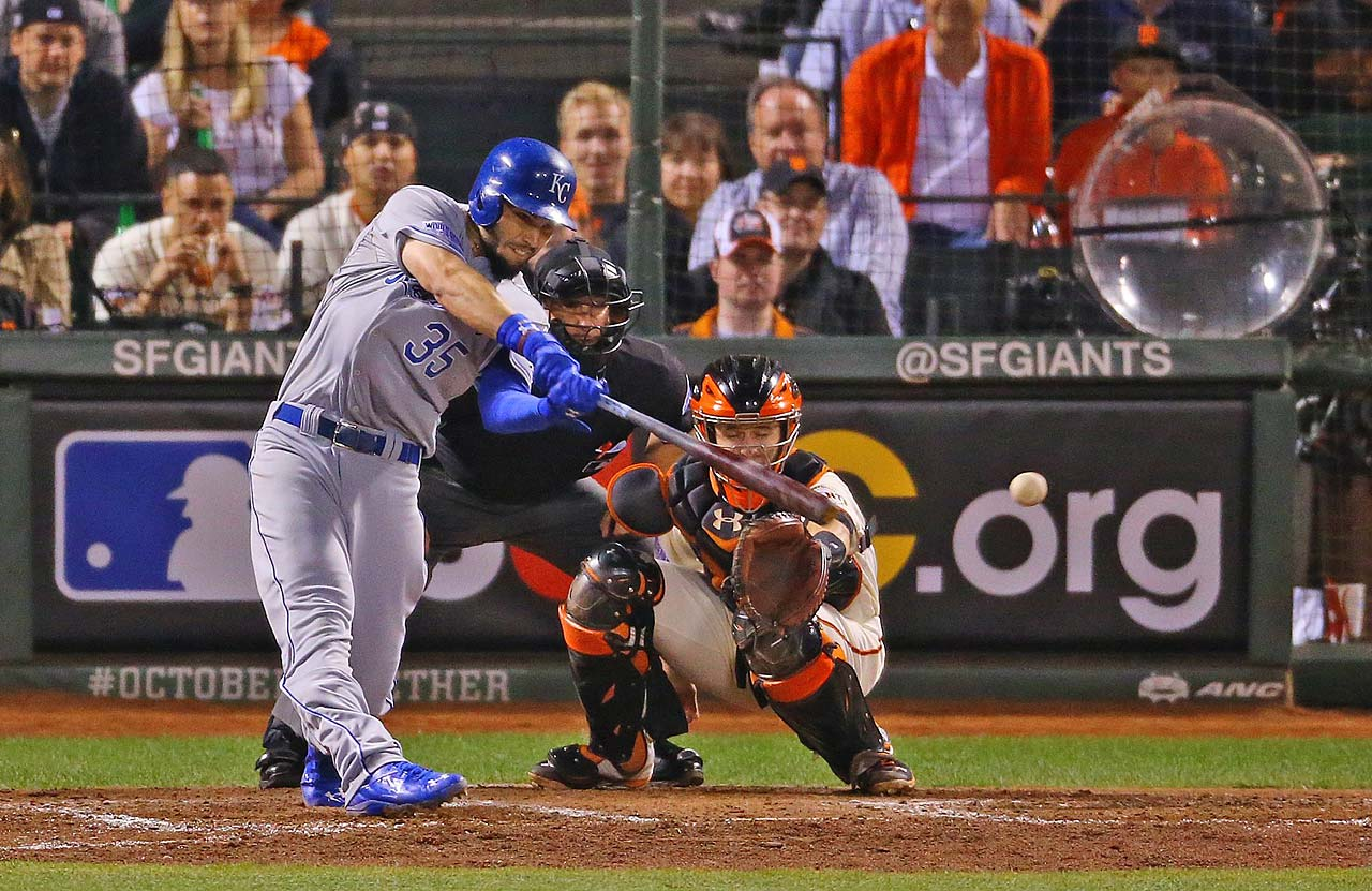 Eric Hosmer battled Javier Lopez in an 11-pitch at-bat to drive home the winning run.