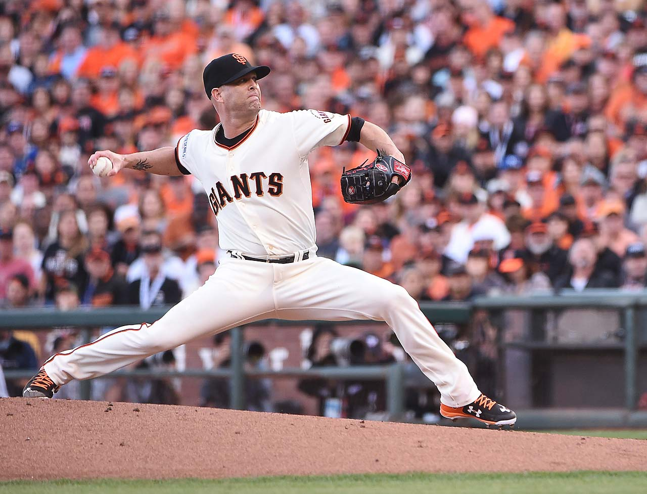 Tim Hudson allowed three unearned runs on four hits to absorb the loss.