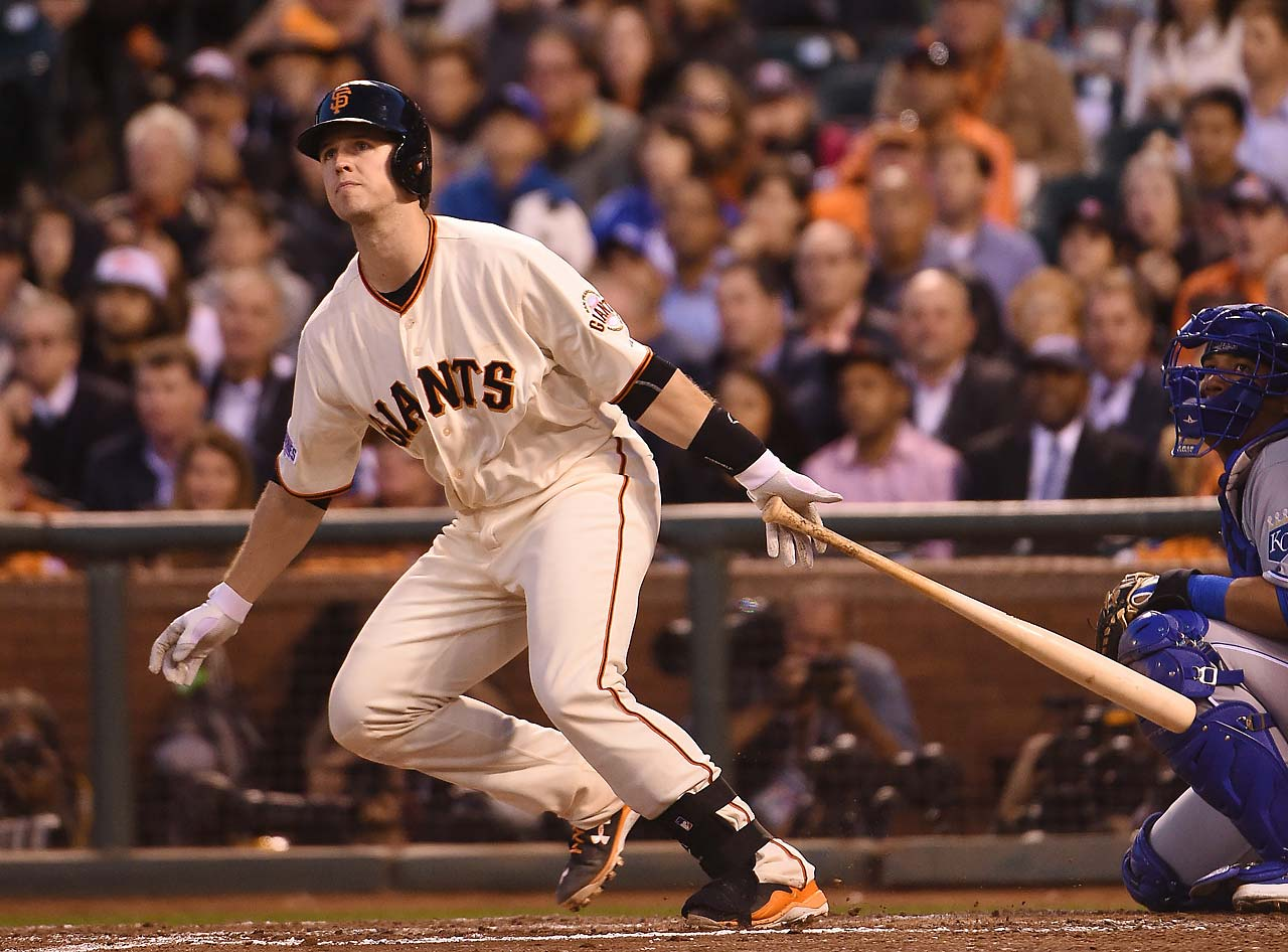 Buster Posey went 0-for-4 Friday night but did drive in a run in the sixth to close the gap to 3-2.