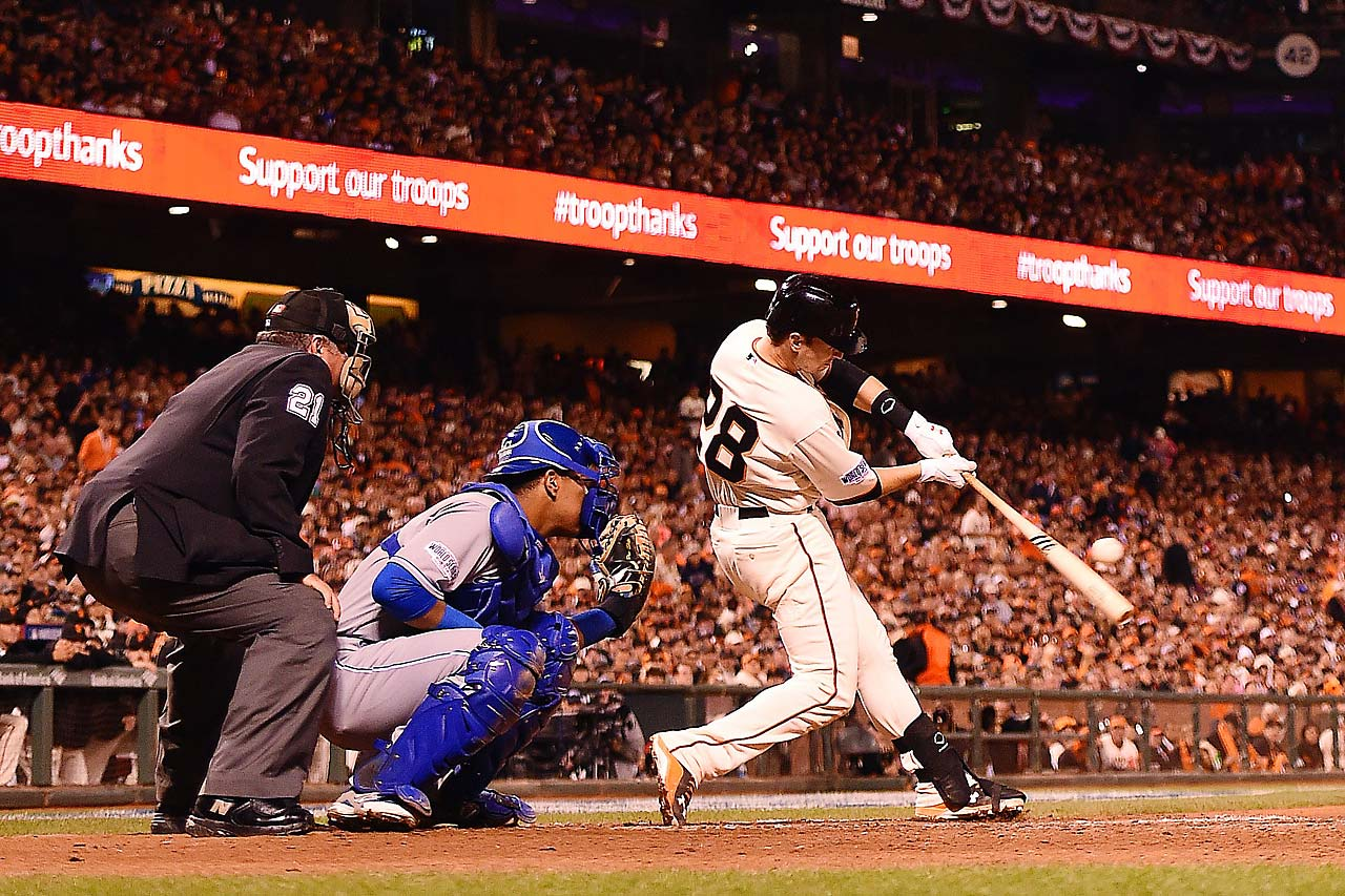 Buster Posey and his teammates finished with 12 hits against the Royals.