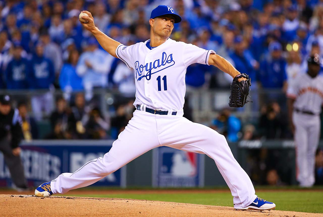 The 35-year-old Guthrie took the loss, giving up three runs in 3 1-3 innings. (Text credit: AP)