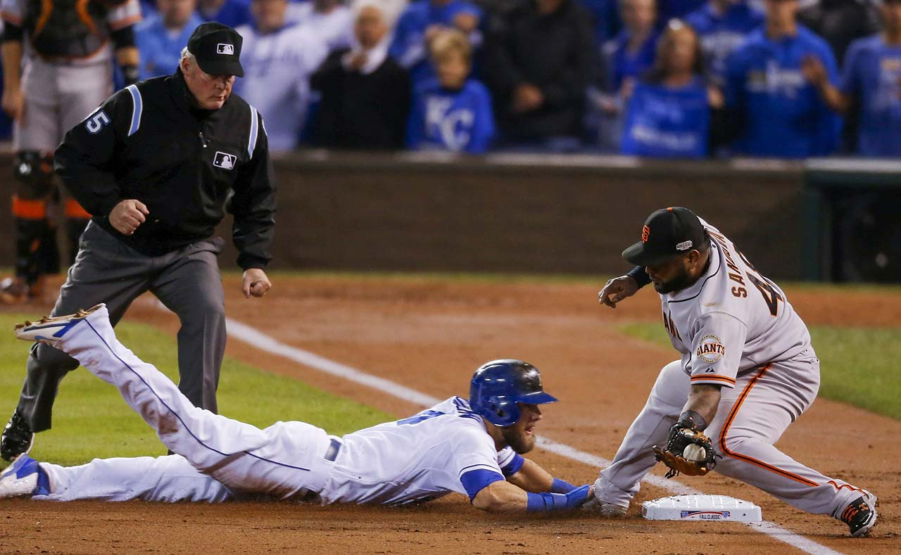 The heads-up play in the second inning helped Kansas City erase a 2-0 deficit.