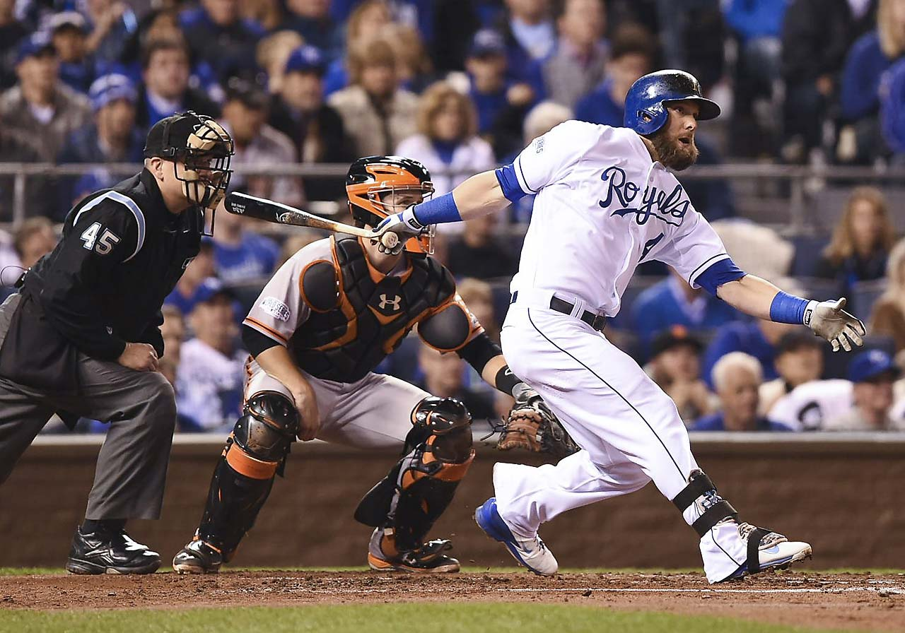 Alex Gordon broke out of his hitting slump and went 2-for-3 with an RBI and a run scored.