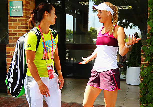 Li hasn't played a match since her first round loss at the French Open.