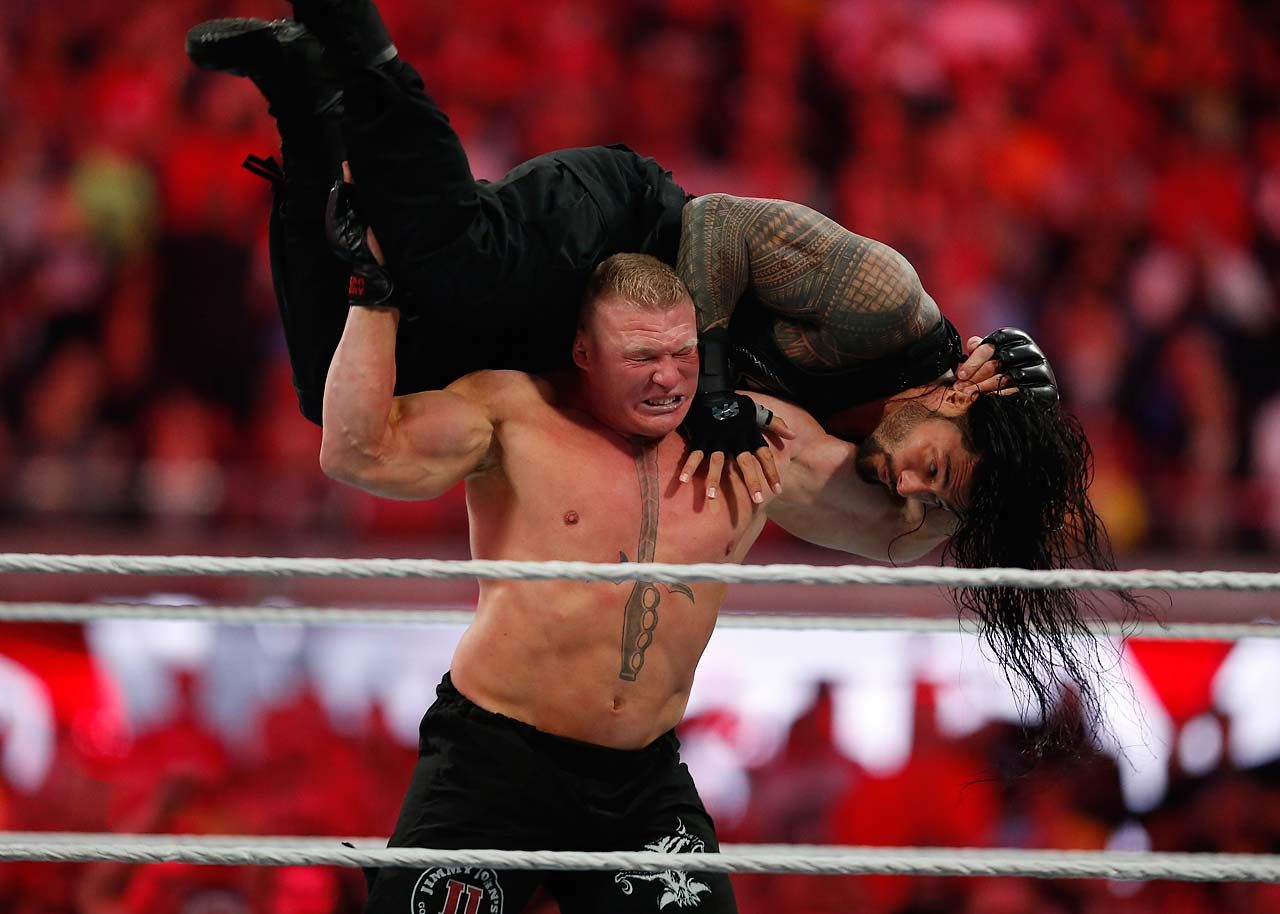 Brock Lesnar and Roman Reigns