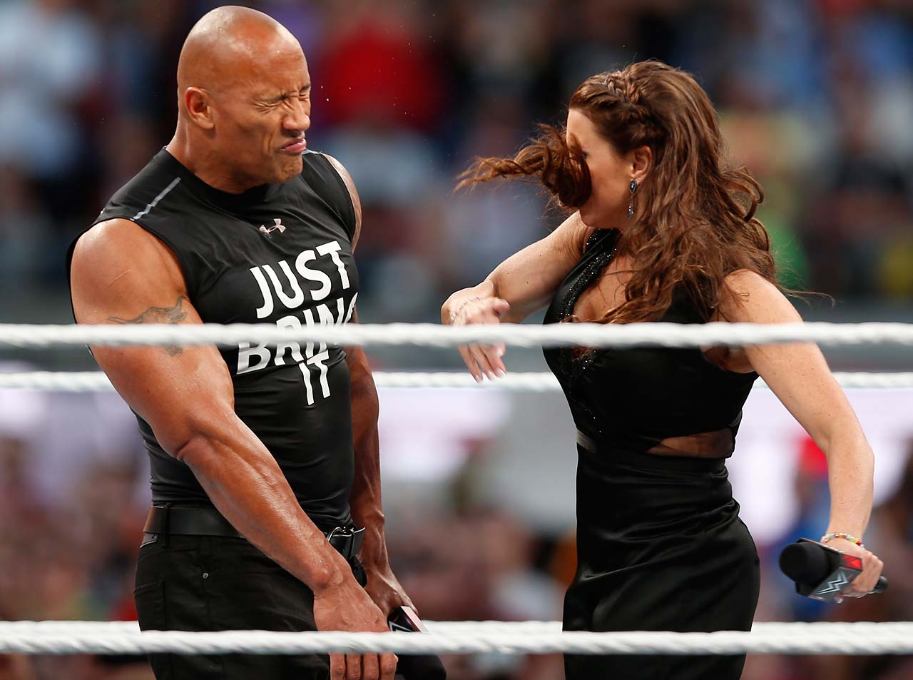 The Rock and Stephanie McMahon