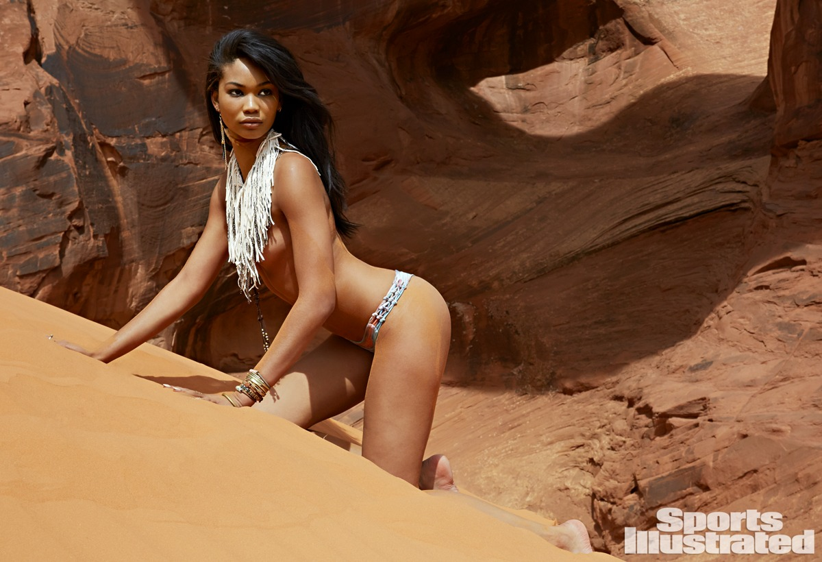 Chanel Iman was photographed by James Macari in Monument Valley Navajo Tribal Park, Utah.