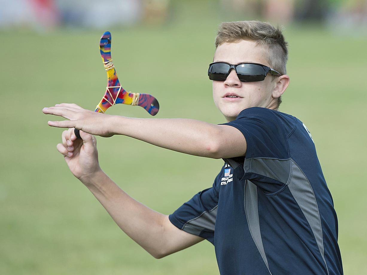 Eli Gepfert prepares to destroy the competition during trick catch in his first appearance in the U.S. Nationals.