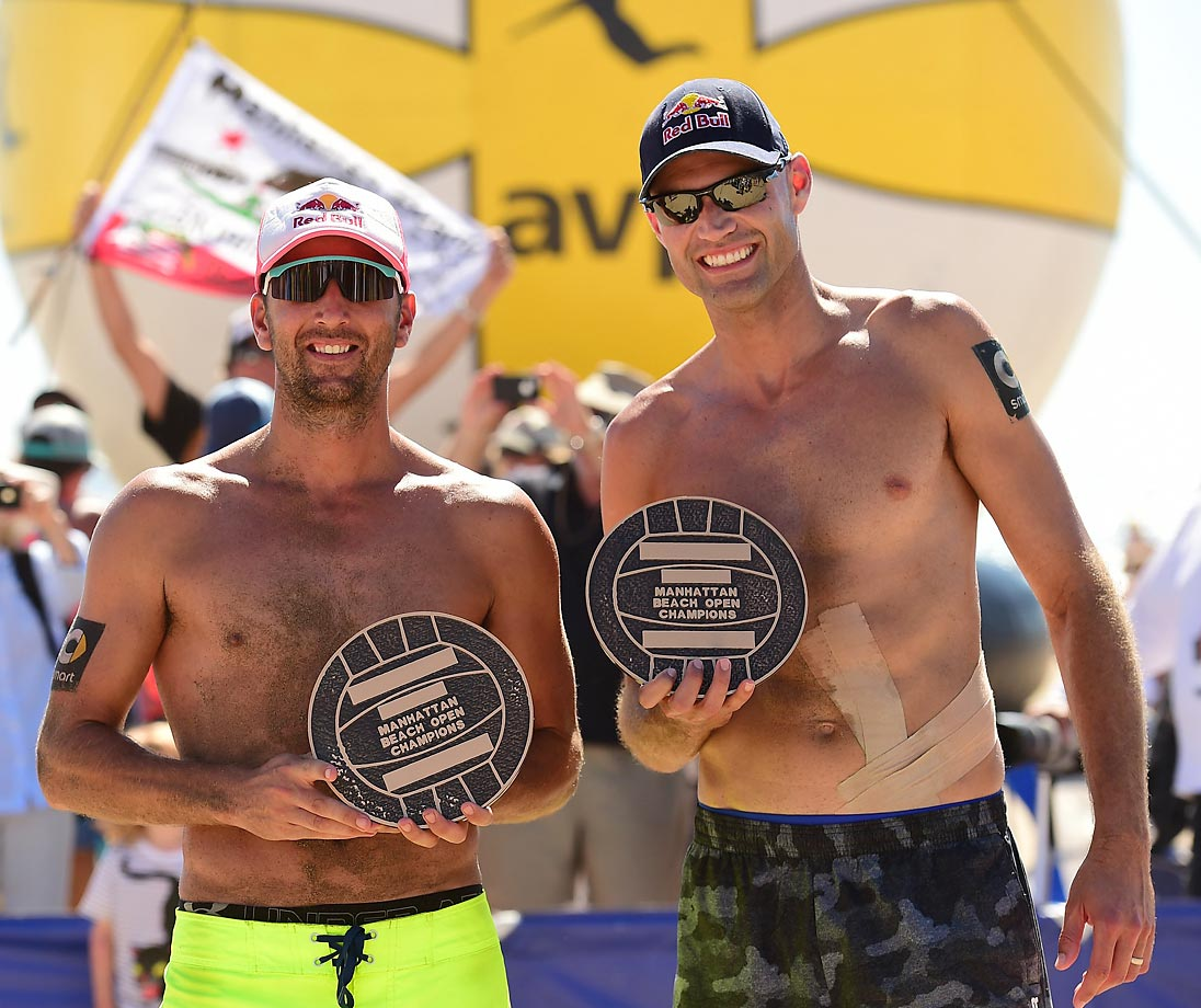 Men's champs Sean Rosenthal and Phil Dalhausser.