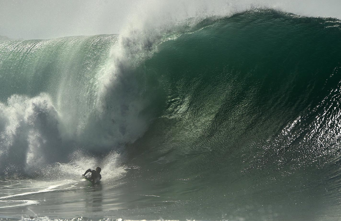 With Hurricane Marie creating larger than usual waves along the California coastline, SI photographer Robert Beck took advantage of the rare occurrence and captured these images.