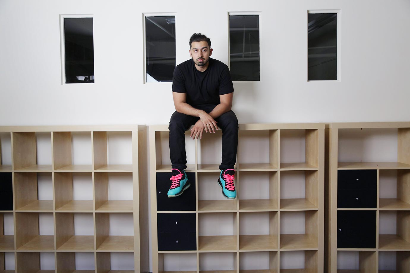 "Born in the United States but representing Pakistan, Zia Ahmad was the oldest student at the World Sneaker Championships at 33. He drove himself up to Portland from San Francisco, where he lives and works, with sneakers piled in his backseat. Having options was important. ""Footwear is the last piece of authenticity,"" he says, ""that makes your outfit legit."""