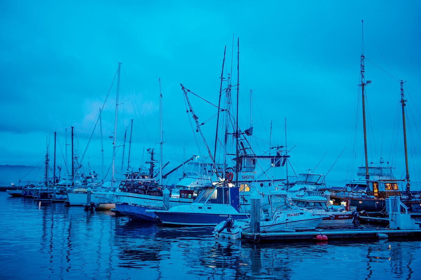 Pillar Point Harbor, the departure point to get out to Mavericks Surf break.