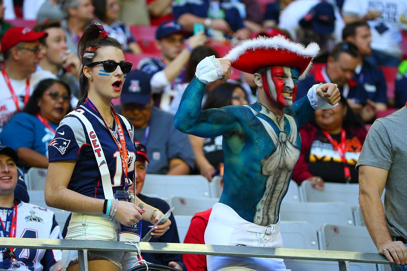 Fans at the Super Bowl