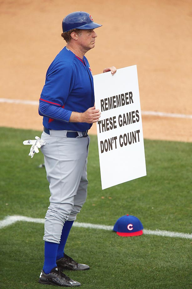 Will Ferrell's day out at spring training with the Cubs in Arizona.