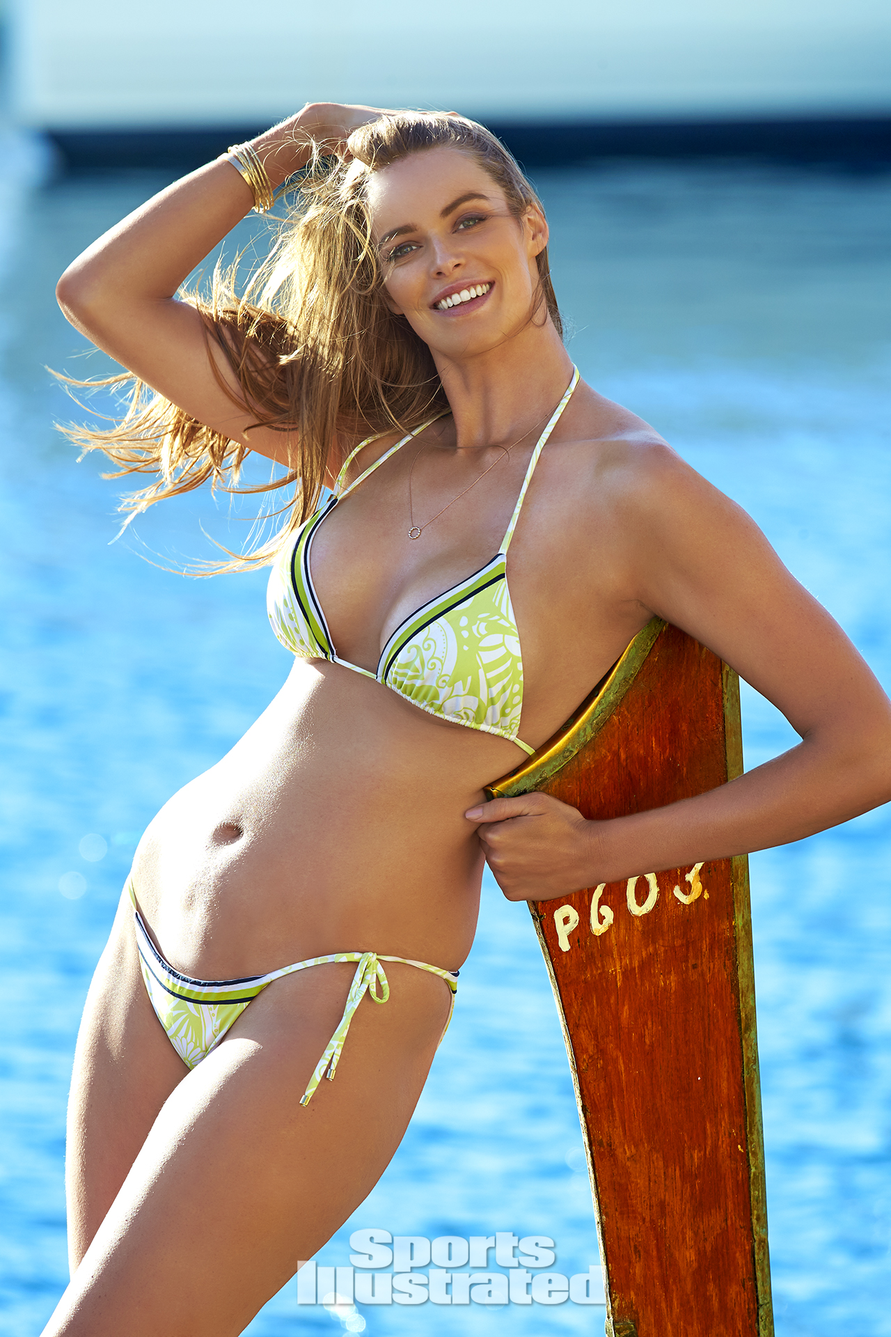 Robyn Lawley was photographed by Ben Watts in Malta. Swimsuit by Ola Vida.