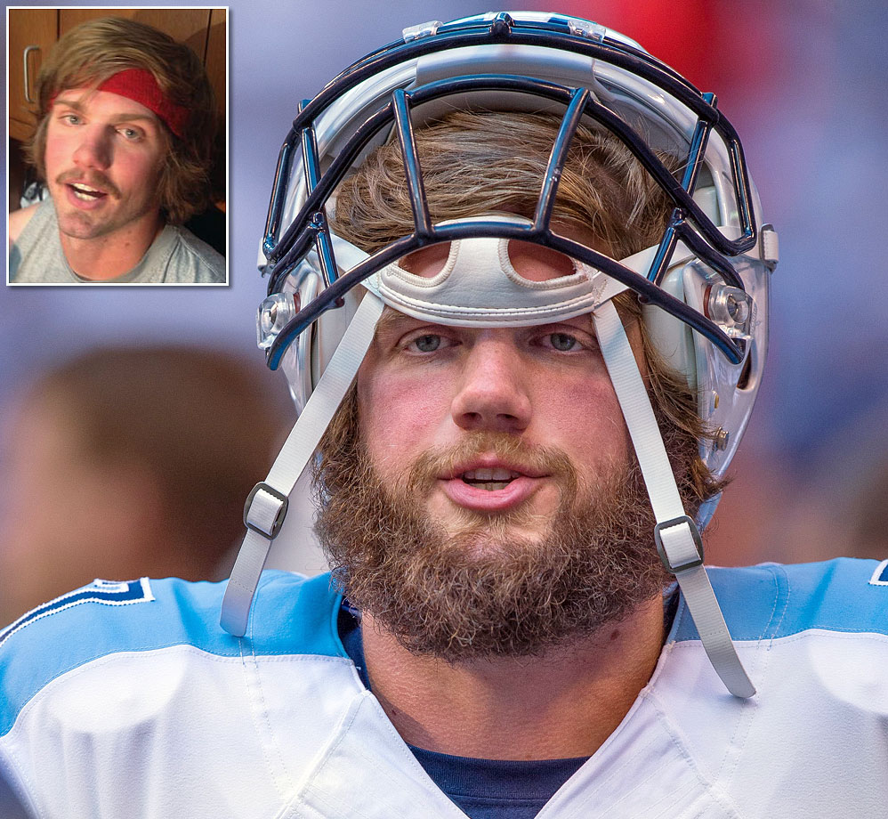 Zach Mettenberger entered the 2014 season with a beard that had rivaled the Texans' Ryan Fitzpatrick, but he celebrated being named the Titans' starting quarterback for Week 8 by shaving his beard, leaving a pretty sweet mustache (inset).