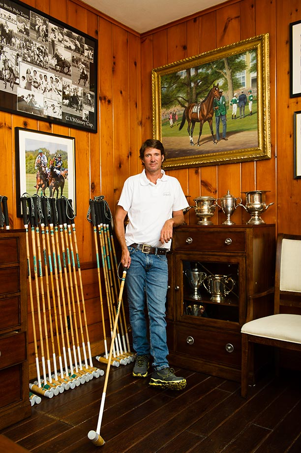 McLaren 5 goaler polo player and White Birch Farm manager Nick Manifold has been at White Birch for over 25 years.