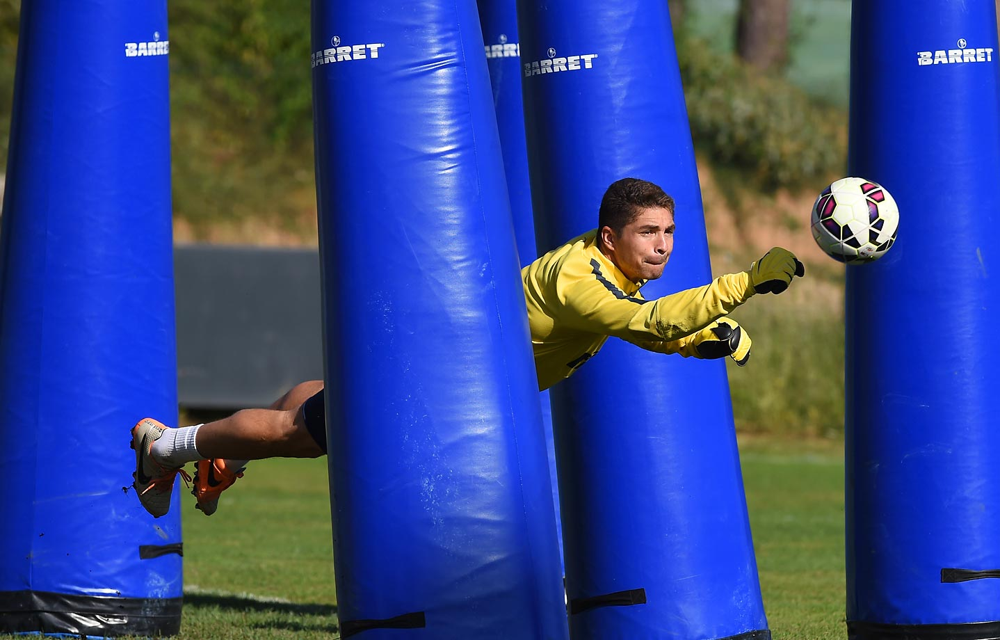 Juan Pablo Carrizo in training at Appiano Gentile in Como, Italy.