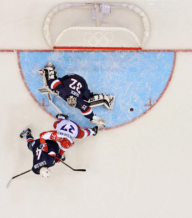 Pavel Datsyuk had two goals in regulation for the Russians, who desperately want to win an Olympic gold medal on home soil at the 2014 Games.