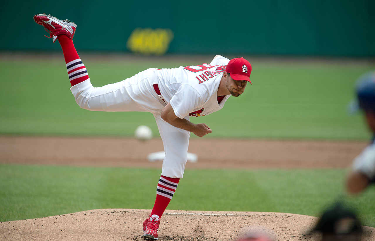Cardinals pitcher Adam Wainwright missed the entire 2011 season due to Tommy John surgery on his right elbow, just a year after he was the runner-up for the NL Cy Young award. Wainwright returned in 2012 but only finished with 14 wins, his lowest total since 2008. But he rebounded in 2013, finishing the year 19-9 and leading the league in games started, complete games, innings pitched, hits allowed and shutouts while finishing second in the NL Cy Young voting. In 2014, Wainwright went 20-9 with a career best 2.38 ERA.